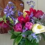 Vase of May flowers