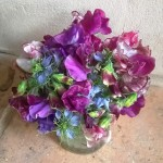 Nigella and sweetpeas