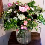 Roses, Scabious and umbellifers. October.