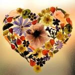 Bespoke pressed flower heart