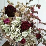 Dried flowers from the cutting garden