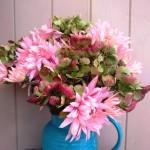 Chrysanthemum and hydrangea