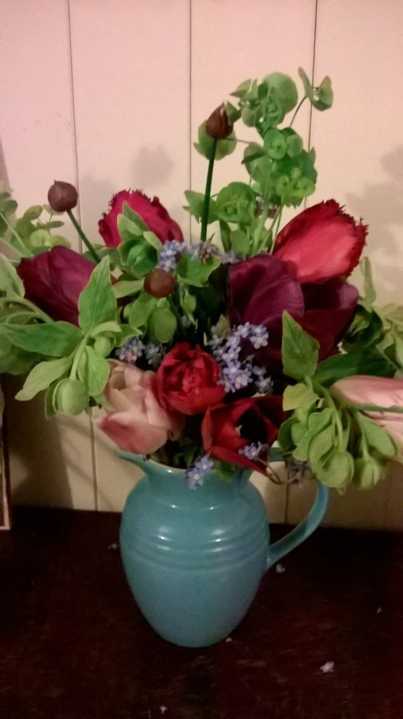 Tulips and Hellebores
