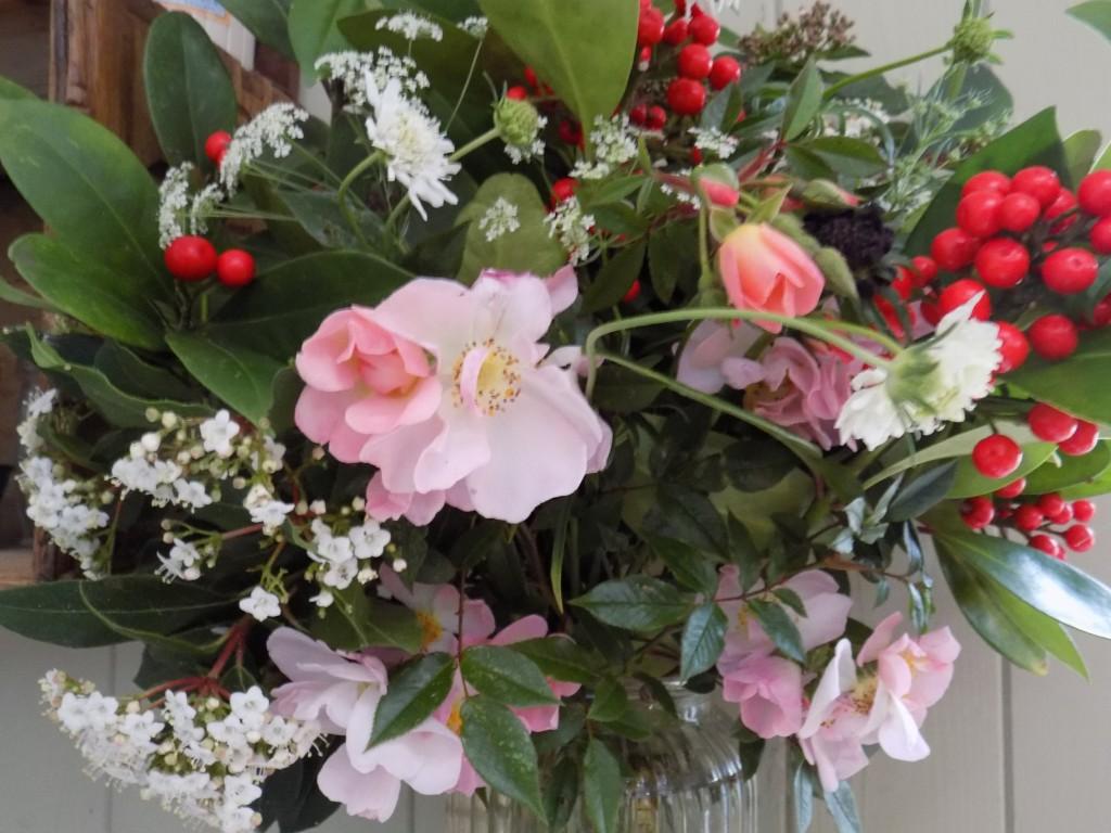 Skimmia and Roses