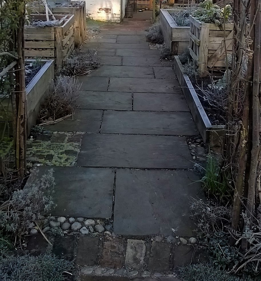 wide path through cutting garden